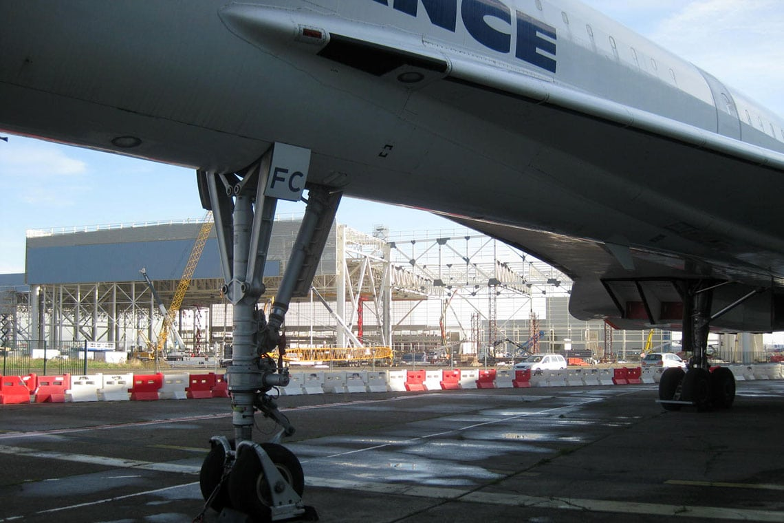 Concorde outside the Airbus Factory