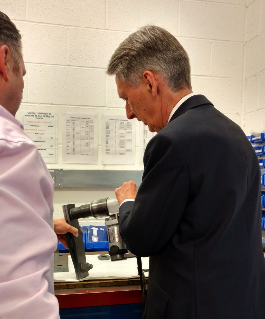 Phillip Hammond visits TCB